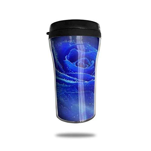 Blue Rose Unisex Food Grade ABS Travel Mug Kaffeetasse 8.5 Oz Aladdin Blue Rose
