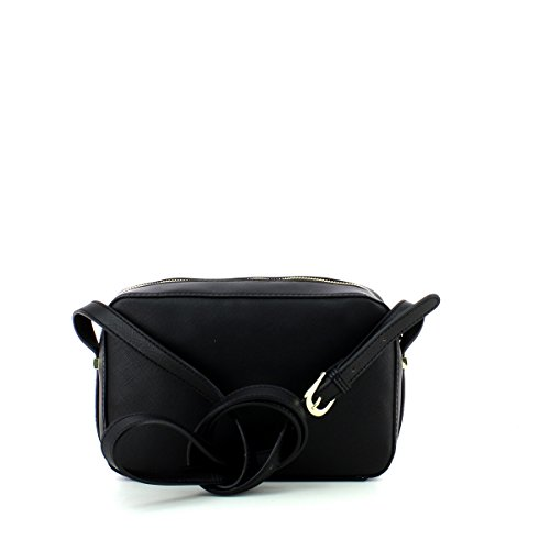 BORSA DONNA levanto saffiano cross-body borchie Nero