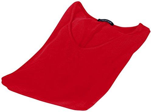 EyeCatch Plus - Tunique basique col en V - Shellie - Femme - Grandes Tailles Rouge