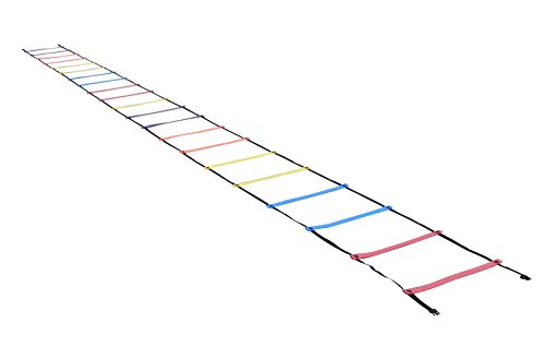 HAEST Rutschfeste extrabreite Koordinationsleiter mit fixierten Schwellen - 9 Meter