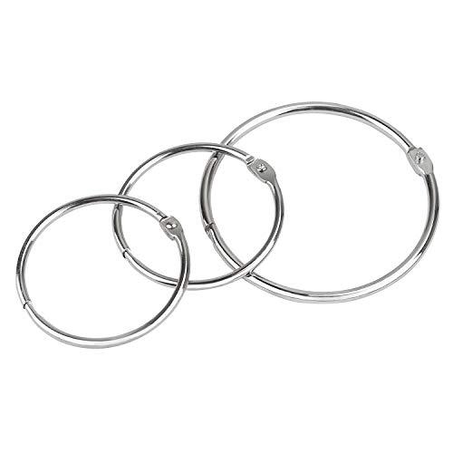 UnicLife Ringbuchringe, groß, lose Blätter, 5 cm und 3 Zoll, 50 mm und 72 mm, 24 Stück