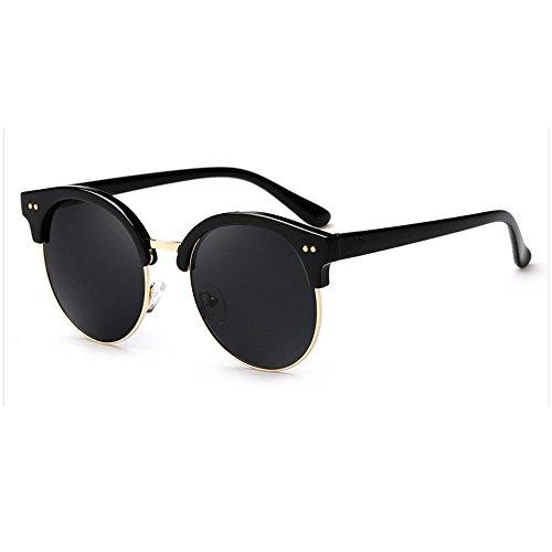 LQABW Lunettes De Soleil Pour Femmes Tone Classical Polarized Metal Sunglasses UV Protection,A