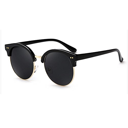 LQABW 2018 New Square Lunettes De Soleil Funky Vintage Polarized UV 400 Protection No Glare Sunglasses,G