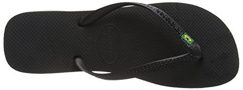 Havaianas Brasil, Tongs mixte adulte Noir (Black 0090)
