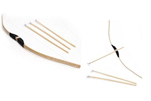 Arc en Bambou 75 cm 3 Fleches Ventouses - Robin Garcon Enfant - 609