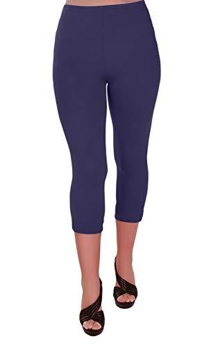 Eye Catch Plus - Ripley Damen Stretch Gym Yoga Aktiv Lässige Sport Erntegamaschen 3/4 Capri Hosen Größen 56/58