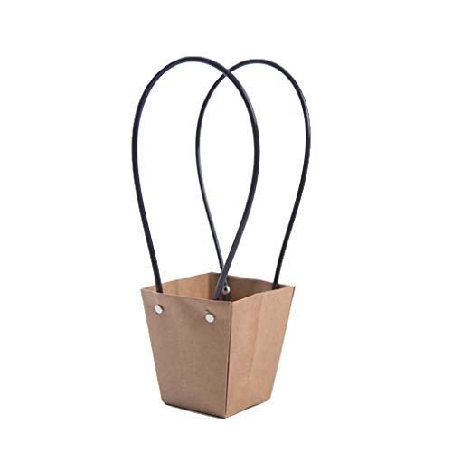 Chshe® Geschenktüte - Kraftpapier Für Die Hosentasche Flower Kraftpapier-Blumentüte , Blumengeschenktüte , Einfache Und Elegante Inneneinrichtung (5 Blumengeschenktüten) (A) (15 Filter Klimaanlage X20x1)