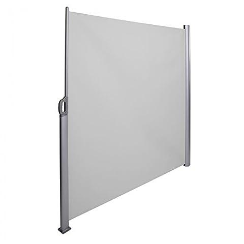 Strattore Auvent store abri soleil latéral brise-vue rétractable aluminium 180x300cm anthracite