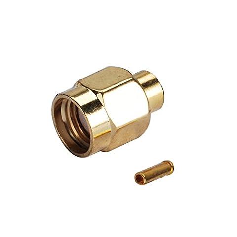 Eightwood RP-SMA Soudure Mâle (Broche Femelle) Droite RF Connecteur Pour .141