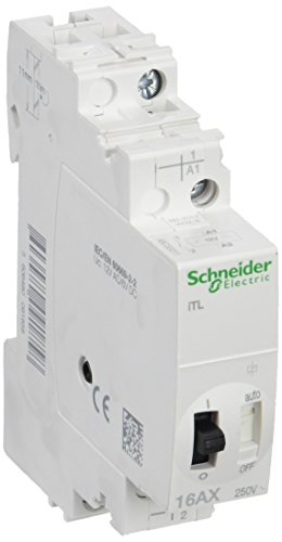 Schneider A9C30011 Fernschalter iTL, 1P, 1S, 16A, Spule 12 VAC 50/60Hz- 6 VDC
