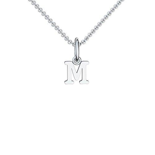 Buchstabenkette M Silber Buchstabenanhänger M - inkl. Luxusetui + - Namenskette Namensanhänger Buchstabe M Kette Buchstabe M Buchstabenanhänger Buchstaben Anhänger Silber FF116-5 SS92545