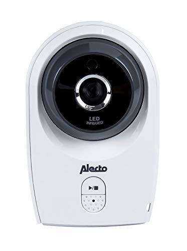 Alecto DVM-143C zusätzliche Kamera für Alecto DVM-143 Funk Babyphone (100{0b893031569f7666cc3e1307b04814618e64c563f9cf5f1328f9cc9b73c13ba6} störungsfrei), mit schwenkbarer Kamera, Nachtsicht, hohe Reichweite von bis zu 300 Meter, 11 cm. Mehrkameradisplay