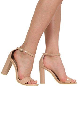 PILOT® talon bloc à peine là sandales à lanières Moka