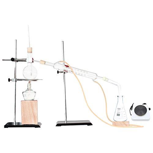 Labor Magnetrührer Glasdestillation Set Ätherisches Öl Destillation Reines Tau Reinigung Elektrischen Ofen Chemische Glas Laborgeräte Lehrinstrument (Color : C)