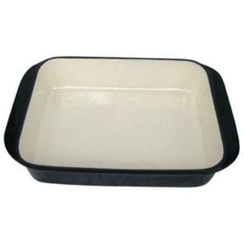 Jean-Patrique Rectangular Cast Iron Roasting Pan | Kitchen Craft Non Stick Cookware Pans Dishwasher Safe - Black - Non-stick Lasagne Pan