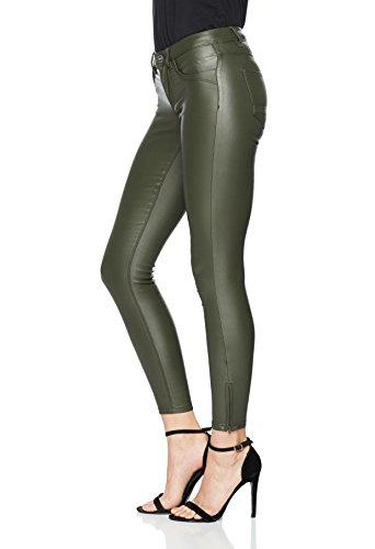 ONLY Damen Skinny Jeans Onlkendell Reg Sk Ank Coated Pnt Bj Noos Grün (Kalamata)
