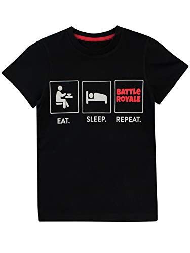 Battle Royale Camiseta para niño Gaming Negro 7-8 Años