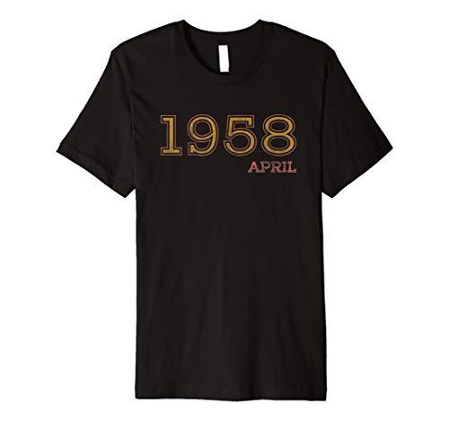 60th Birthday Vintage Tshirt April 1958 Shirt Gift Idea