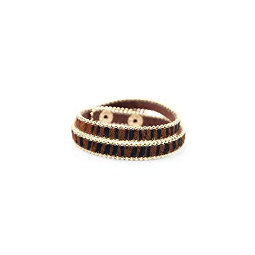 Awertaweyt Edelstein Perlen Armband 1PC Multicolor Leopard Print Exquesite Button Bracelet Wedding 4 Colors Adjustable Alloy Bead Gifts Fine Gifts for Women 3 (David Yurman Ring Damen)