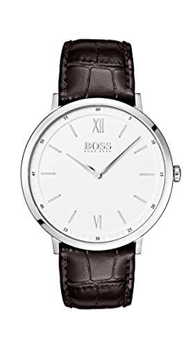 Hugo Boss Watch Hommes Analogique Quartz Montre avec Bracelet en Cuir 1513646
