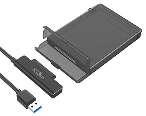 "QuantumZERO USB 3.1 Hard Drive Disk HDD/SSD Enclosure Case (2.5"" - 7/9.5 mm, UASP Enabled)"