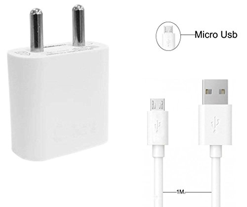 Apple iPhone 5C 32GB Compatible 2 in 1 USB High Speed Charger Kit Of Micro USB Cable + USB Adapter All Android Smartphones (White) by mobicell  available at amazon for Rs.399
