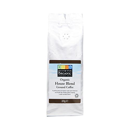 Fresh & Wild Organic House Blend Ground Coffee, 227 g 31tAjlnwdrL