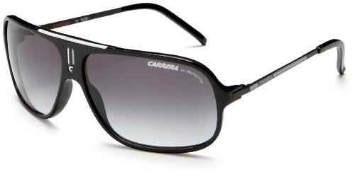 Carrera Cool S Navigator Sunglasses Black And White Frame/Grey Gradient Lens image