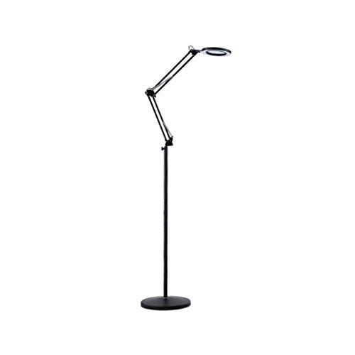 HU HAO UK Floor Lamp- LED Cold Beauty Light Tattoo Vertical Floor Lamp Nail Beauty Salon Lamp (Color : BLACK)