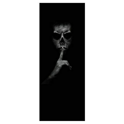 TYHON Wasserdichte Halloween-Dekoration, Türdekoration, 90 x 200 cm, Abnehmbare Wandbild, Tür-Aufkleber, einfach zu entfernen und aufzukleben. Wmt014