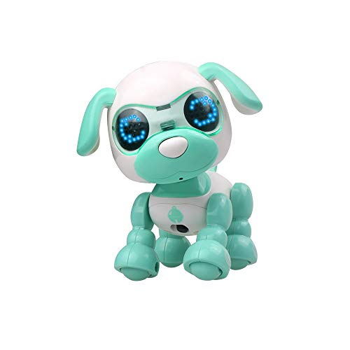 Roboter Vintage Kostüm - JiaMeng Interaktiver intelligenter Welpen-Roboter-Hund LED Augen Tonaufnahme singen Schlaf nettes Spielzeug intelligenter Haustierroboter intelligenter Haustierhund sprachaktivierte Notenaufzeichnung