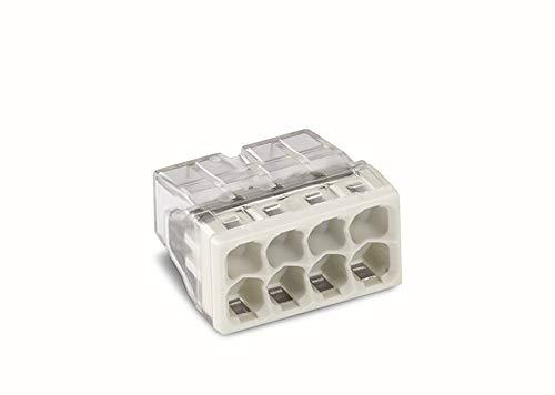 WAGO 2273-208 COMPACT-Verbindungsdosenklemmen, 8-Leiter, 50 Stück (Renovieren Einbaustrahler)
