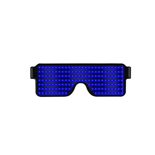 Proglam LED-Brille mit blinkendem Licht, Festival, Party, Sonnenbrille, Weihnachten, Geburtstag, Dekoration blau