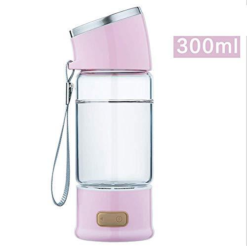 ving Cup - Hydrogen-Rich Generator Wasser Flasche Ionisator Wasserstoff Reiches Wasser Flasche Tragbar Wasserstoffreiche 300ml,Pink ()