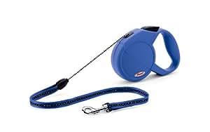 Flexi Classic Long Retractable Cord Lead, 7m / 12 Kg, Small, Blue