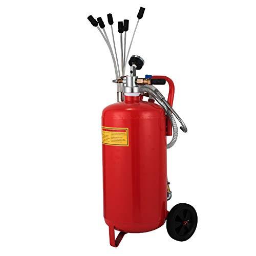 Succebuy 22.7L Récupérateur d'Huile de Vidange 8-10 Bars Extracteur Pneumatique avec Le Système en Circuit Fermé Aspirateur D'huileMoteur