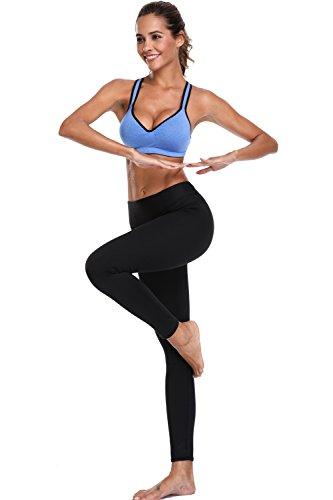 CharmLeaks Damen Sports BH Leichter Halt Gepolstert Bügellos Yoga BH Blau
