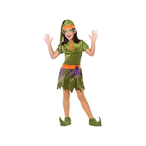 (ATOSA 56911 Kobold Kostüm für Jungen Costume Goblin 10-12, Grün/Orange, 10 a 12 años)