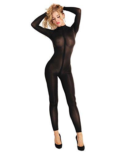 CHICTRY Body Femme Suit Jumpsuit Pantalon Une pièce Jumpsuit Body Semi-Transparent Corps et Costume...