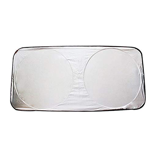 Sylvialuca Universal Big Auto Voiture Véhicules Front Fenêtre Pare-Brise Pare-Pliant Réfléchissant UV Parasol Chauffe-Bloc Couverture