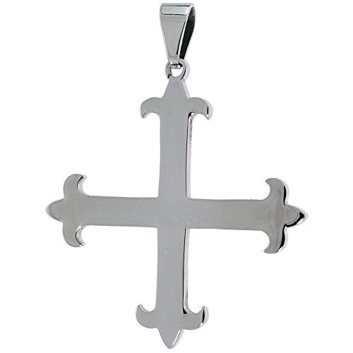 edelstahl-avis-kreuz-anhanger-762-cm-76-cm-lange-bead-kette-enthalten-38-mm-lang