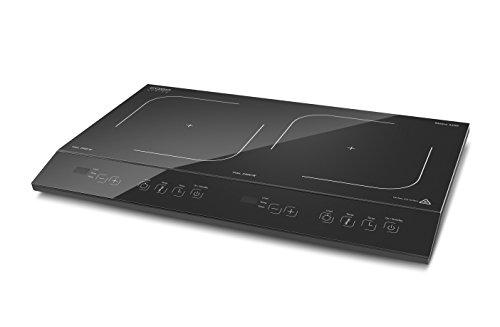 CASO Maitre 3500 Doppel-Induktionskochfeld, mobile Induktions-Kochplatte, Präzisionskochen mit SmartControl, PowerSharing Technologie, Induktion, max. 3500 Watt