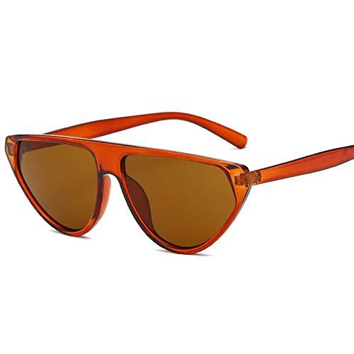 Europa und die Vereinigten Staaten Sonnenbrillen Mode Damen Sonnenbrillen Retro Herrenbrillen Trend Persönlichkeit Sonnenbrille braun roten Kasten
