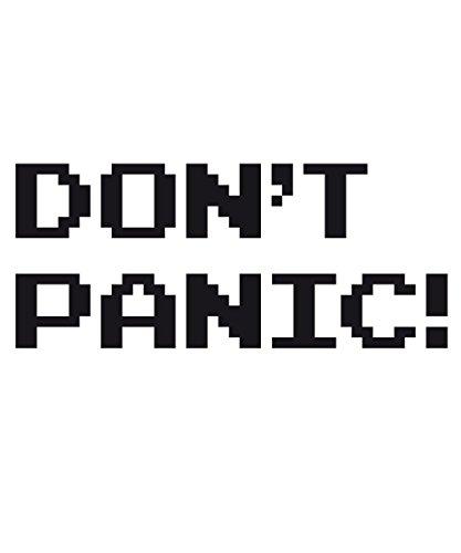 ::: DON'T PANIC! ::: Boys T-Shirt Weiß mit schwarzem Aufdruck