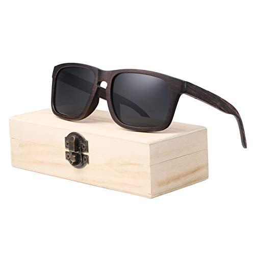 TIANZly Ebenholz Sonnenbrille Herren polarisierte Sonnenbrille