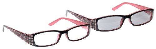 UV Reader UVRPK001 Lunettes de lecture et lunettes de soleil pour femme avec étui Rose