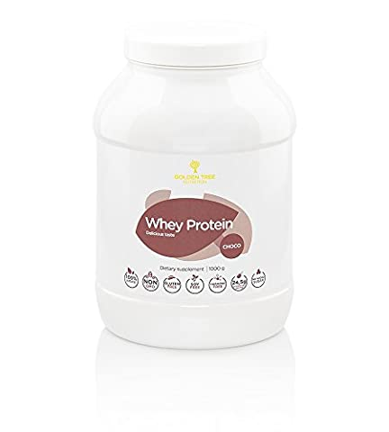 Whey Protein Powder 1kg | 100% All-Natural Ingredients | Delicious Natural Chocolate Flavour | No Added Sugar | No Artificial Colours, Sweeteners or Flavours