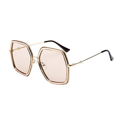 QUINTRA Sonnenbrille von hoher Qualität Polarisierte Sonnenbrille mit großem Gestell aus Metall Unisex-Sonnenbrille