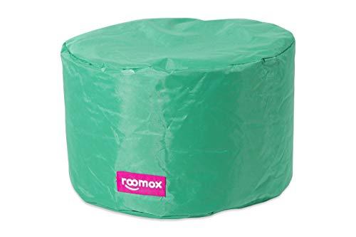ROOMOX Tube Lounge-Sitzsack, Stoff 50 x 50 x 30 cm, Aquagrün/Türkis