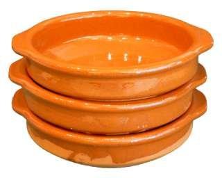 Alfareria Padilla [3er PACK] | Cazuela, traditionell, flach, braun 10 cm | 3x10cm
